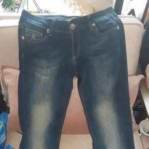 Philip Plein blue jeans gold skull 29 / 34